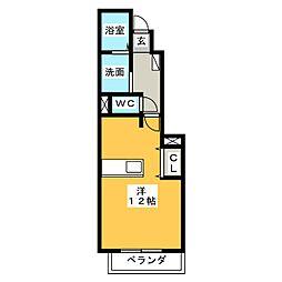 バン・ド・ソレイユ[1階]の間取り