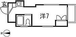 愛知県名古屋市瑞穂区駒場町1丁目の賃貸マンションの間取り