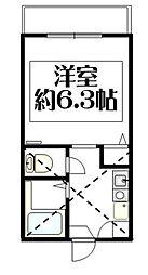 神奈川県横浜市磯子区杉田5丁目の賃貸アパートの間取り