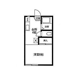 神奈川県相模原市南区相模大野2丁目の賃貸アパートの間取り