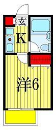 パレドール津田沼II[1階]の間取り