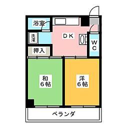 高道ハイツ[2階]の間取り