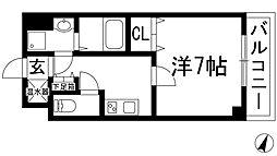 兵庫県川西市多田桜木1丁目の賃貸マンションの間取り