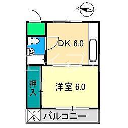 弘田マンション(桟橋)[3階]の間取り