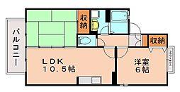 セジュール柏原 A棟[2階]の間取り