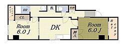 カサベルデ[4階]の間取り