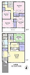 [テラスハウス] 東京都中野区上鷺宮2丁目 の賃貸【/】の間取り