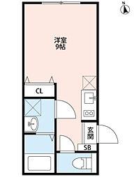 パークFLATS桜川[103号室]の間取り