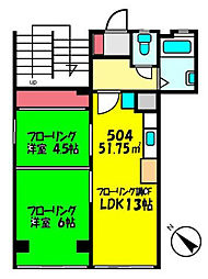 東邦第二ビル[5階]の間取り