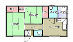 [一戸建] 福岡県北九州市小倉北区大畠1丁目 の賃貸【/】の間取り