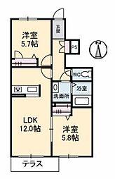 プロヌーブ鳴門[1階]の間取り