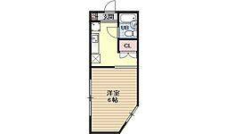 第10パールハイツ藤[1A号室号室]の間取り
