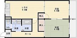 ドリームスクエア[3階]の間取り