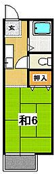 鴨志田ハイツ[203号室]の間取り