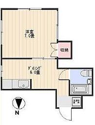 福澤ハイツ[102号室]の間取り