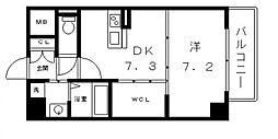 大阪府大阪市天王寺区寺田町2丁目の賃貸マンションの間取り