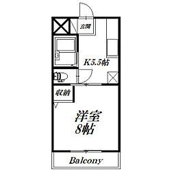 静岡県浜松市浜北区内野の賃貸マンションの間取り