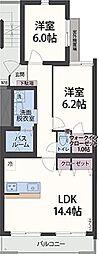 アンソレイエ祇園原[1階]の間取り