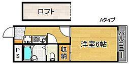 レオパレス芳山荘I[1階]の間取り