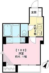 アンファミーユ[102号室号室]の間取り