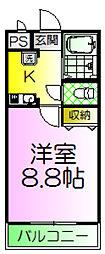 ライム高田[3階]の間取り
