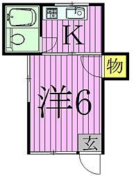 ヨシダコーポ[1階]の間取り