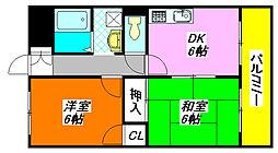 坂田マンション 406号室[4階]の間取り