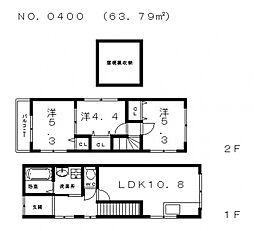 [一戸建] 大阪府大阪市生野区小路東4丁目 の賃貸【/】の間取り