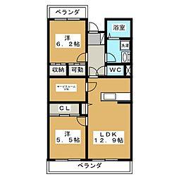 シェーナーヴァルト[3階]の間取り