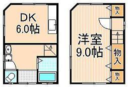 [一戸建] 東京都足立区大谷田1丁目 の賃貸【/】の間取り