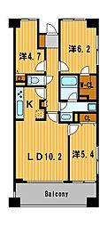 CASSIA横濱ガーデン山[2階]の間取り