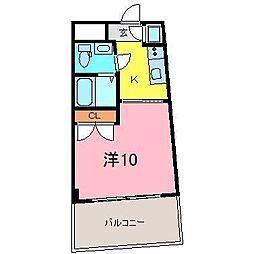 カーサヨサミ[110号室]の間取り