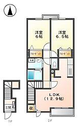 ユニゾンII[2階]の間取り