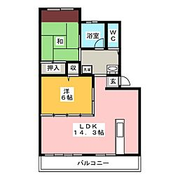 ヴィラ富塚[3階]の間取り