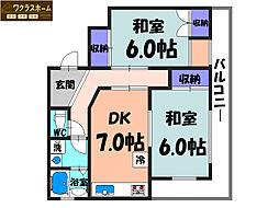 大阪府堺市中区深井清水町の賃貸マンションの間取り