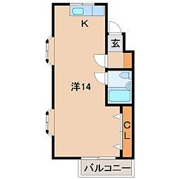 コスモ広瀬[5階]の間取り