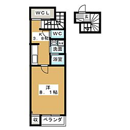エクセルシャトー[2階]の間取り