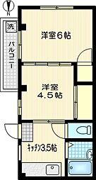 コーポプロムナード[2階]の間取り