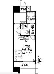 東京都渋谷区代々木2丁目の賃貸マンションの間取り