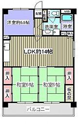 新栄二日市ハイツ[406号室号室]の間取り