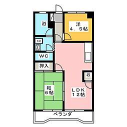 藤和レジデンス[4階]の間取り