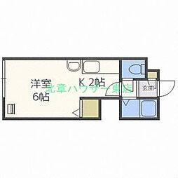 北海道札幌市東区北四十条東17の賃貸アパートの間取り