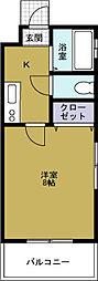 ボンジュール本田[3階]の間取り