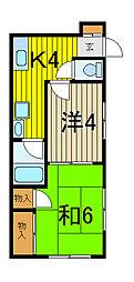 陶石ハウス[2階]の間取り