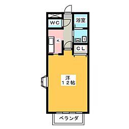秀栄レジデンス2[2階]の間取り