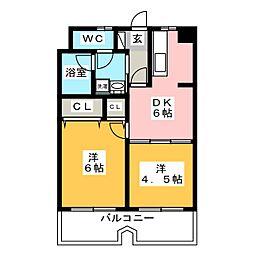 エステートモア博多APEX[9階]の間取り