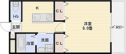 m&mステータス国分[2階]の間取り
