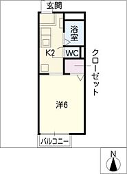 Annex Fuji[2階]の間取り
