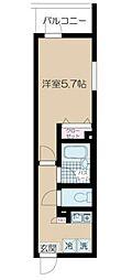 JR総武線 荻窪駅 徒歩10分の賃貸マンション 3階1Kの間取り