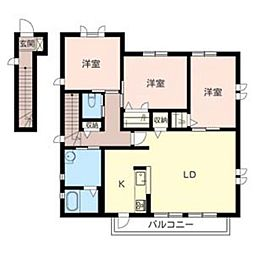 メゾンソレイユ[2階]の間取り